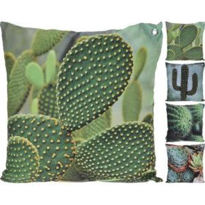kussen met cactus afbeelding