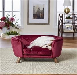enchanted hondenbank wijnrood