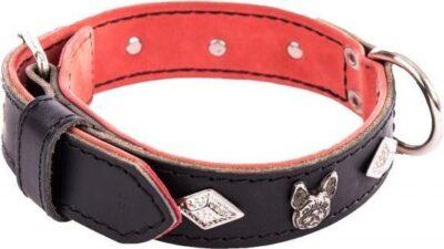 honden halsband deco zwart leer