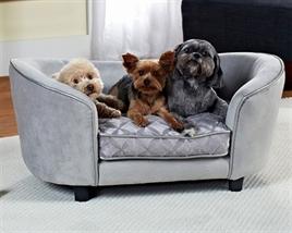Hondenbank enchanted zilver