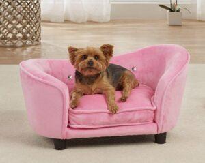 enchanted hondenbank roze