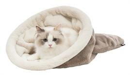 katten slaapzak trixie taupe