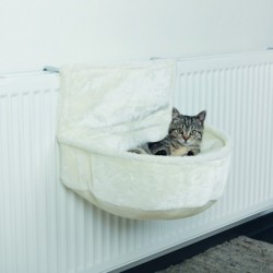 trixie witte radiator mand voor katten met uitneembaar kussen