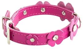 roze hondenband klaverblad
